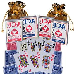 Ace Giant Face Premium Playing Cards_ Bundle of 4 Decks _ Bo