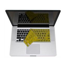 Apple Keyboard - Black on Yellow Large Print Skin, Low Visio