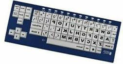 Big Blu VisionBoard Blue Keyboard with Bluetooth Large Print