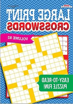 Large Print Crosswords Puzzle Book-Volume 92