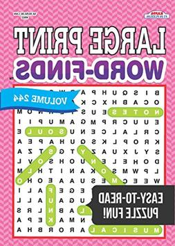 Large Print Word-Finds Puzzle Book-Word Search Volume 244