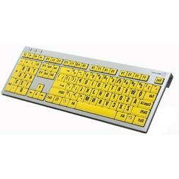 LogicKeyboard Large Print Yellow B PC Slim for Visually Impa