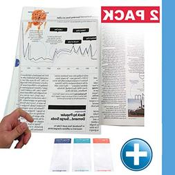 ChefLand Full Page 3x Magnifier / Plastic Magnifying Sheet
