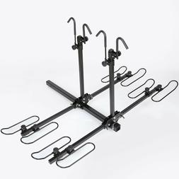 4 Bike Platform Style Bicycle Rider Hitch Mount Carrier Rack